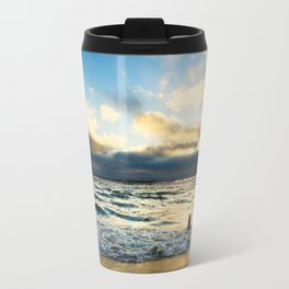 Ocean Beach - Person in Water Travel Mug