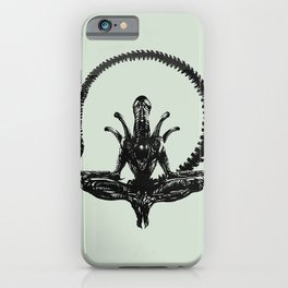 Meditation Alien iPhone Case