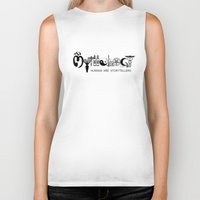 mythology Biker Tanks featuring Mythology - Humans are Storytellers  by David Long