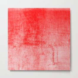 Distressed Coral Textured Canvas Metal Print