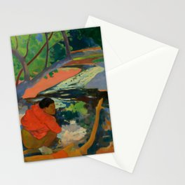 "Paul Gauguin ""Te Poipoi (Le matin - The morning)"" Stationery Cards"