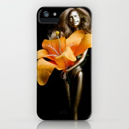 golden barbie with flower iPhone Case