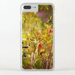 Fall Field Clear iPhone Case