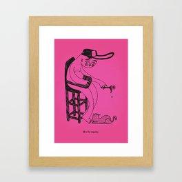 E / disable alphabet Framed Art Print