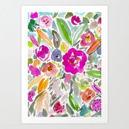 Bravery Floral Art Print