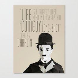 Chaplin Scomposition Canvas Print