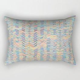 Bright Stripe Repeat Rectangular Pillow
