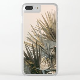 Palm Glow Clear iPhone Case