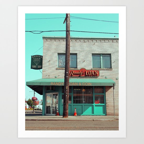 Corner pawnshop Art Print