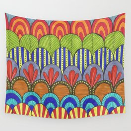 bright scalloped pattern Wall Tapestry