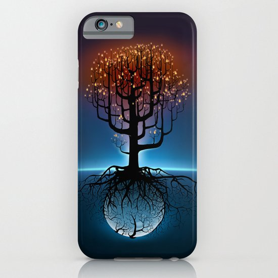 Tree, Candles, and the Moon iPhone & iPod Case