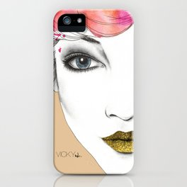 Life is a canvas, throw all the paint and sparkles on it you can iPhone Case
