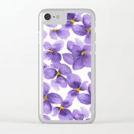 Violets are blue Clear iPhone Case