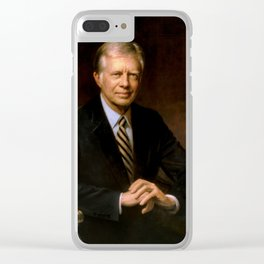 President Jimmy Carter Painting Clear iPhone Case