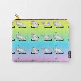 Unicorn Yoga Pattern Rainbow Carry-All Pouch