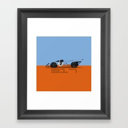 Vintage Le Mans race car livery design - 917 Framed Art Print