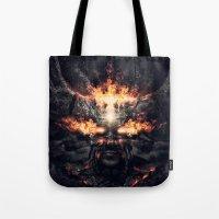 diablo Tote Bags featuring Diablo by dracorubio