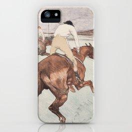 """Henri de Toulouse-Lautrec """"Le Jockey"""" iPhone Case"""