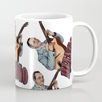 django Mugs featuring Django Reinhardt by Daniel Cash