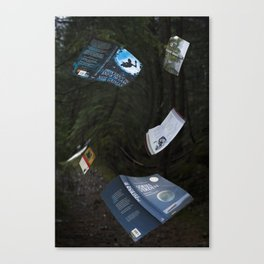 Books can fly Canvas Print
