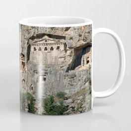 Lycian Tombs at Dalyan Close Up Coffee Mug
