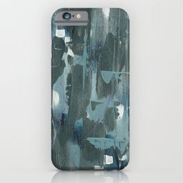 Blue and Green Abstract Acrylic Painting iPhone Case