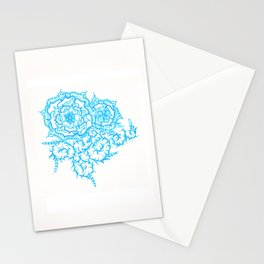 46. Thorns, Thistles, Nettles in Blue with Henna Rosa Stationery Cards