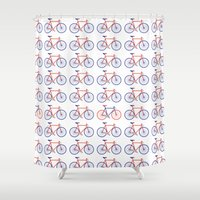 bikes Shower Curtains featuring Bikes  by Keep It Simple