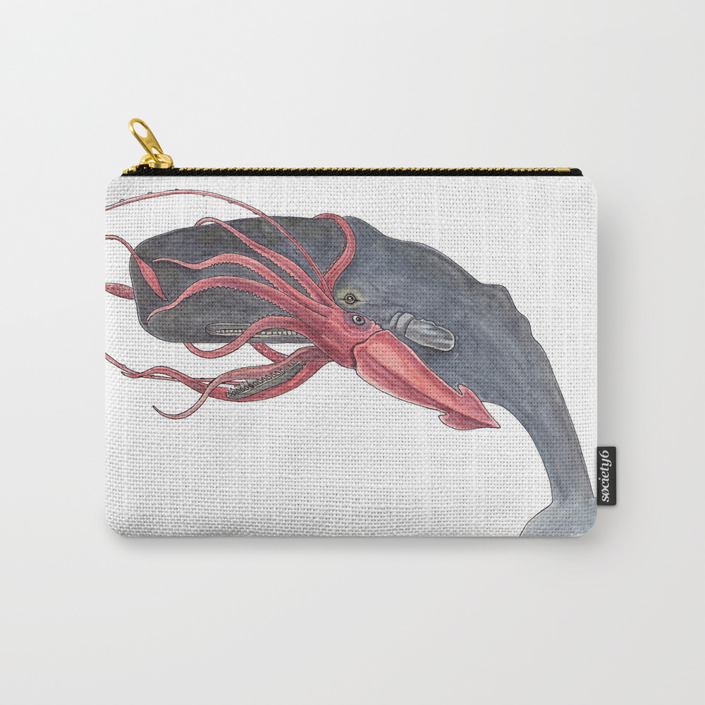 Squid And Whale Carry-all Pouch by Creativehare CAP3902685