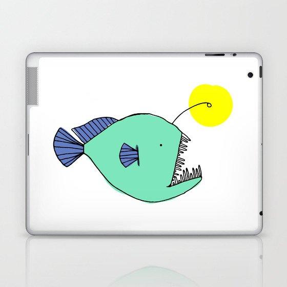 deep sea anglerfish laptop & ipad skin