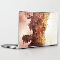 plane Laptop & iPad Skins featuring Celestial Plane by Bighand illustration