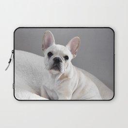 Cream Frenchie Laptop Sleeve