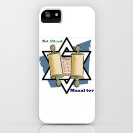 Bat Mitzvah iPhone Case