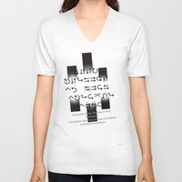 lost in translation V-neck T-shirts featuring Lost in Translation :Black & White by Sierra Neale