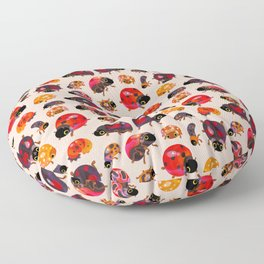 Lady beetles Floor Pillow