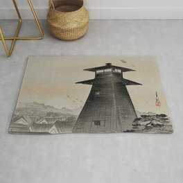 Japanese Woodcut Ogata, Gekkō, 1859-1920: Edo Kite Festival Rug