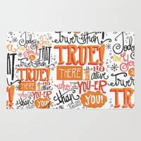 dr seuss Area & Throw Rugs featuring TODAY YOU ARE YOU... - DR. SEUSS by Matthew Taylor Wilson