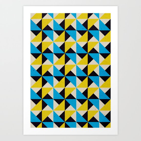 Geometrika: Jupiter Rover CY Art Print