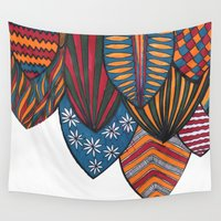 surf Wall Tapestries featuring Surf by kartalpaf