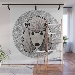 Poodle Dog Wall Mural