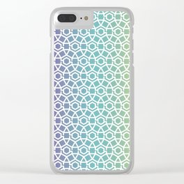 Gravity Tesselation Rainbow Clear iPhone Case