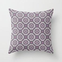 Flourishing Heart Abstract Seamless Pattern Throw Pillow