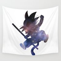 goku Wall Tapestries featuring SPACE GOKU by DrakenStuff+