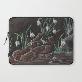 Snowdrop and a shoe Laptop Sleeve
