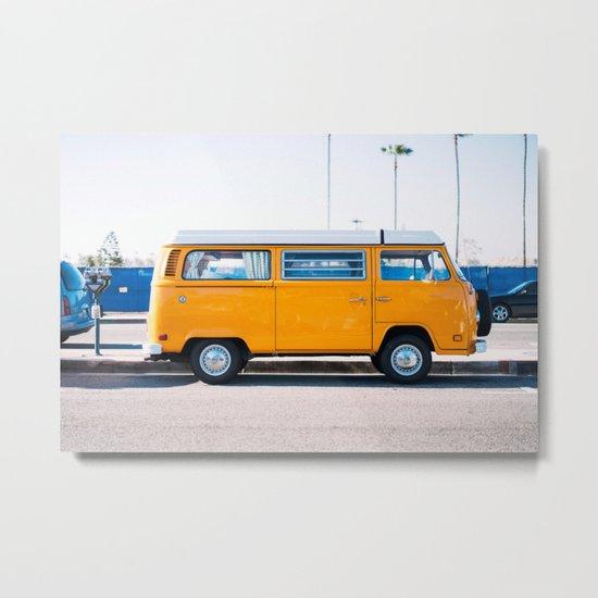 Combi yellow Metal Print
