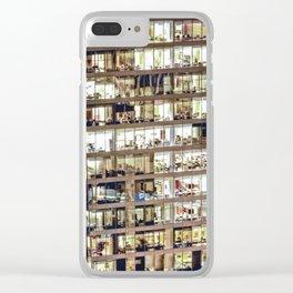 Voyeuristic 1711 Vancouver Cityscape Clear iPhone Case