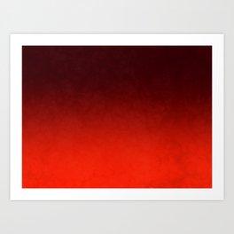 Vibrant Red Art Print