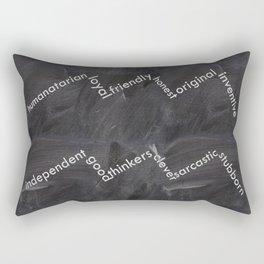Aquarius on chalkbaord Rectangular Pillow