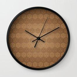 D20 Henna Icosahedron Wall Clock