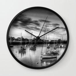 Monochrome Sunset Wall Clock